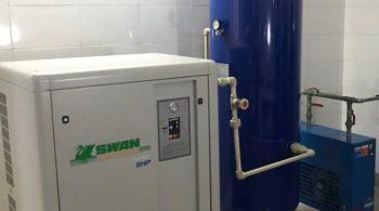 Giao lắp bộ máy 5HP tại bệnh viện đa khoa Thái Nguyên