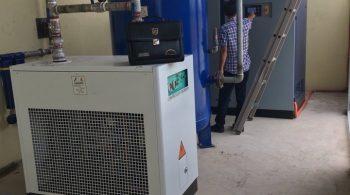 Lắp bộ máy Kyungwon 100HP tại nhà máy Bắc Giang