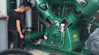 Lắp bộ máy cao áp thổi chai pet 35kg.cm2 tại Quảng Ninh
