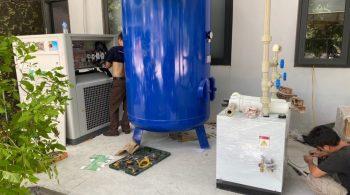 Lắp bộ máy nén khí trục vít Swan 50HP tại Hà Nội